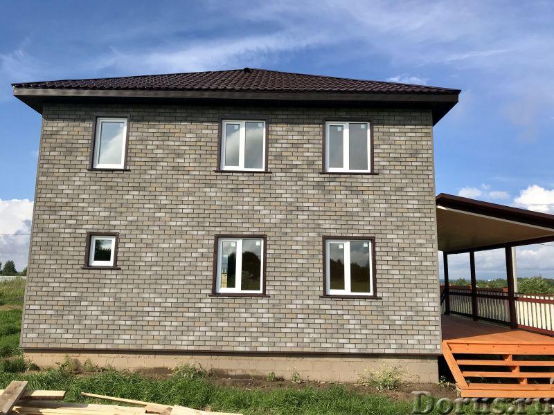Новый дом брус с отделкой под кирпич 125 км от Москва г Переславль озеро-Плещеево - Дома, коттеджи и..., фото 3